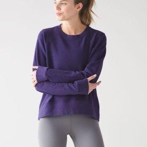 Lululemon Split Long Sleeve Crewneck Sweatshirt Heathered Black Grape 6